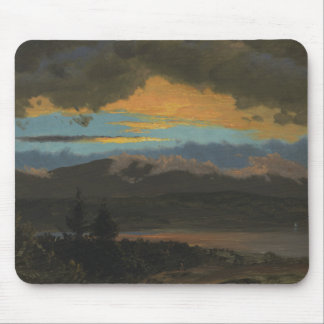 Frederic Edwin Church - Sunset Across the Hudson Mouse Pad