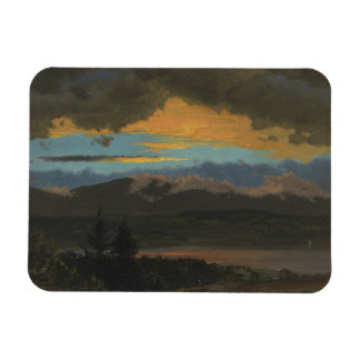 Frederic Edwin Church - Sunset Across the Hudson Rectangular Photo Magnet