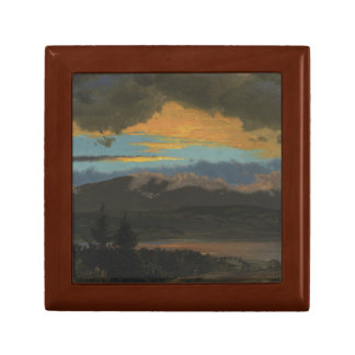 Frederic Edwin Church - Sunset Across the Hudson Trinket Boxes
