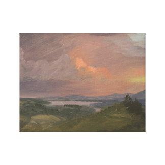 Frederic Edwin Church -Sunset in the Hudson Valley Canvas Print