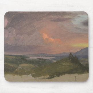 Frederic Edwin Church -Sunset in the Hudson Valley Mouse Pad
