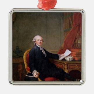 Frederic-Ignace  Comte de Mirbec, 1780 Silver-Colored Square Ornament