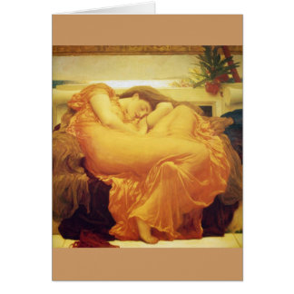 "Frederic Leighton, ""Flaming June"" Greeting Card"