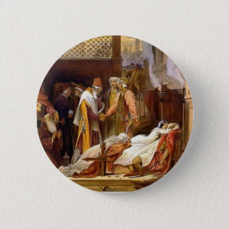 Frederic Leighton-Reconciliation of Montagues 2 Inch Round Button
