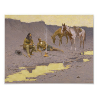 Frederic Remington - A New Year on the Cimarron Photographic Print