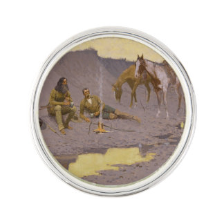 "Frederic Remington Art ""New Year On The Cimarron"" Lapel Pin"