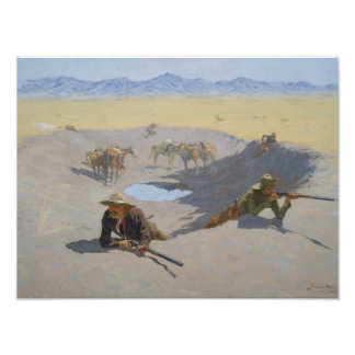 Frederic Remington - Fight for the Waterhole Photo