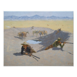 Frederic Remington - Fight for the Waterhole Photo Art