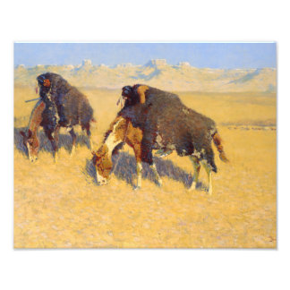Frederic Remington - Indians Simulating Buffalo Art Photo