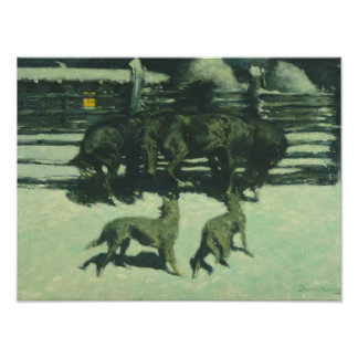 Frederic Remington - The Call for Help Photo Art
