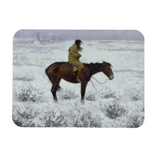 Frederic Remington - The Herd Boy Rectangular Photo Magnet