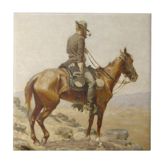 Frederic Remington - The Lookout Tile