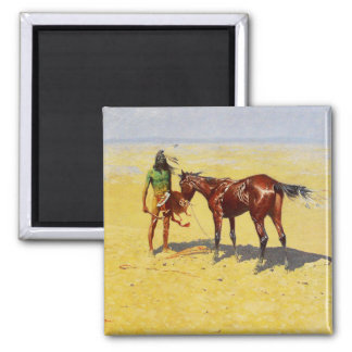 "Frederic Remington Western Art ""Hunted Down"" Magnet"
