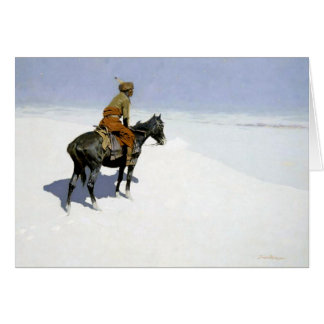"""Frederic Remington Western Art """"The Scout"""" Card"""