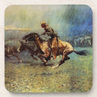 "Frederic Remington Western Art ""The Stampede"" Coaster"