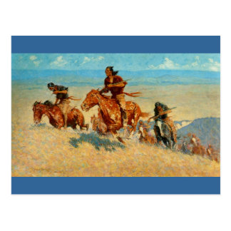 Frederic Remington's The Buffalo Runners (1909) Postcard