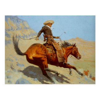 Frederic Remington's The Cowboy (1902) Postcard