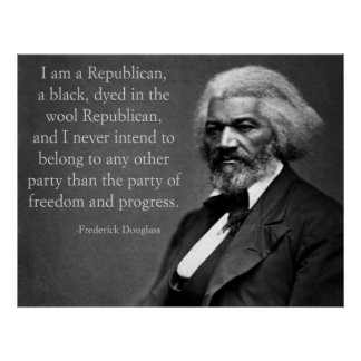 Frederick Douglass Conservative Poster