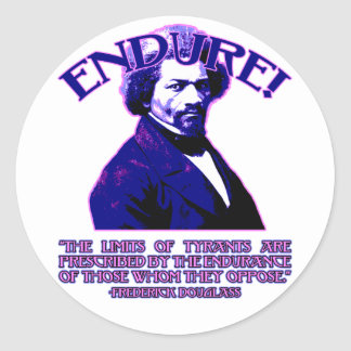 Frederick Douglass Quote: The Limits of Tyrants Classic Round Sticker