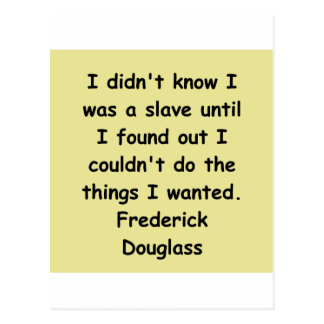 frederick douglass quotes postcard