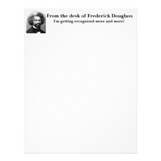 Frederick Douglass recognized more and more Letterhead