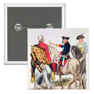 Frederick II  the Great 2 Inch Square Button