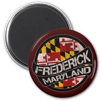 Frederick Maryland flag grunge magnet