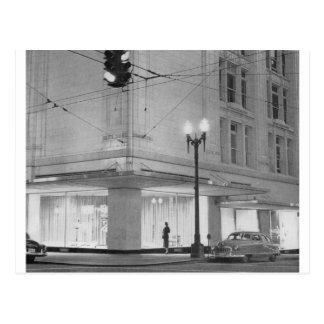 Frederick & Nelson, night view c1952 Postcard