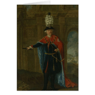 Frederick the Great dressed in the costume Card
