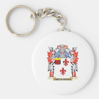 Fredericks Coat of Arms - Family Crest Basic Round Button Keychain