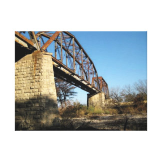 Fredericksburg & Northern RR Watercolor Canvas Print