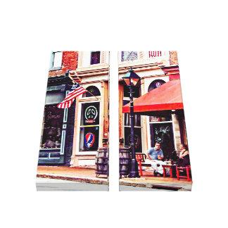 Fredericksburg VA - Outdoor Cafe Canvas Print