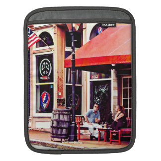 Fredericksburg VA - Outdoor Cafe iPad Sleeve