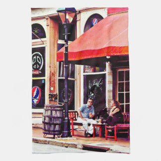 Fredericksburg VA - Outdoor Cafe Kitchen Towel