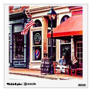 Fredericksburg VA - Outdoor Cafe Wall Sticker