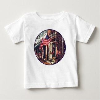 Fredericksburg VA - Street With American Flags Baby T-Shirt