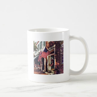 Fredericksburg VA - Street With American Flags Coffee Mug