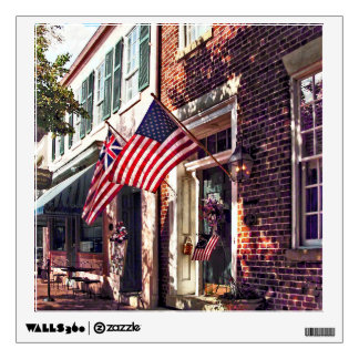 Fredericksburg VA - Street With American Flags Wall Sticker