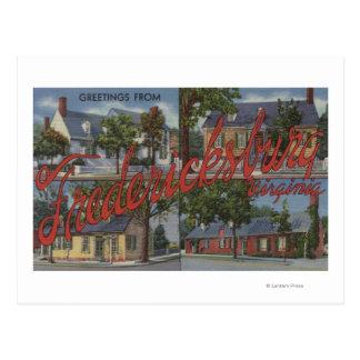 Fredericksburg, Virginia - Large Letter Scenes Postcard