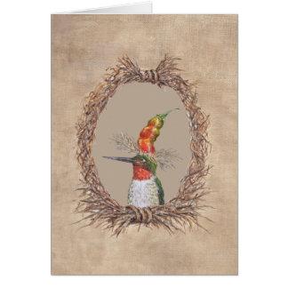 Frederico the hummingbird card