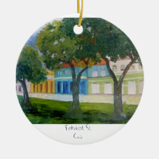 , Frederiksted, St. Croix Ceramic Ornament