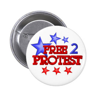 Free 2 Protest Occupy on 30 items Button