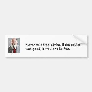 Free advice bumper sticker