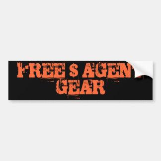 FREE $ AGENT GEAR ,black,bumper sticker Bumper Sticker