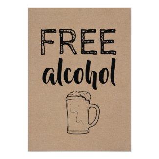 Free Alcohol | GROOMSMAN | BEST MAN Funny Proposal Invitation