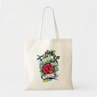 Free and Easy Roses Tattoo Artwork. Tote Bag