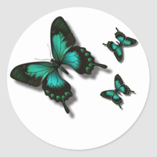 Free as a butterfly classic round sticker