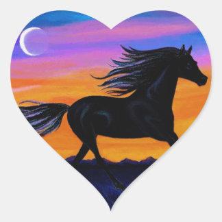 Free As The Wind Heart Sticker