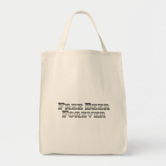 Free Beer Forever - Basic Grocery Tote Bag