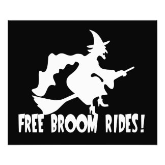 Free Broom Rides Funny Witch Photograph